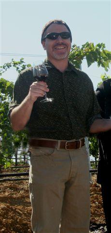 Rabbi Rick blessing the grape harvest
